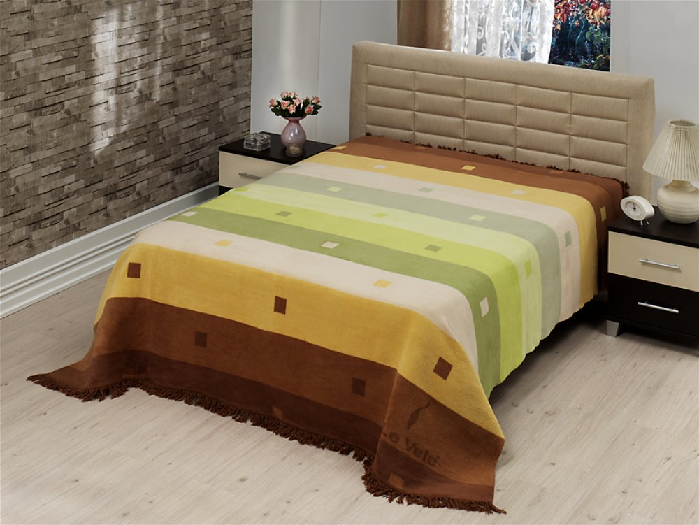 Плед-покрывало LE VELE Royal Rainbow Green 160x220