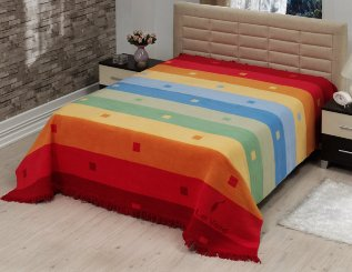 Плед-покрывало LE VELE Royal Rainbow Orange 160x220