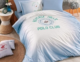 Постельное белье BEVERLY HILLS POLO CLUB BHPC 019 Blue евро